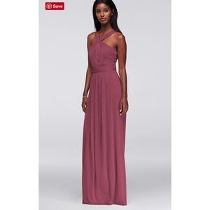 Y-Neck Long Mesh Dress NOT ALTERED